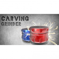 GRINDER CARVING AZUL 4 PARTES (55MM)